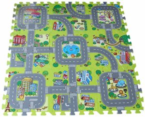 Y-BOA – tapis de sol Puzzle 9 pieces – circuits de route