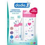 DODIE biberons anti colique Sensation+ 330ml +6 mois tétine plate débit 3 – lot de 2-2