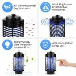 Iweed lampe anti moustique photocatalyseur intérieur et extérieur ampoule puissante -3