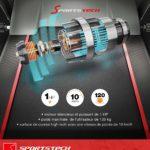 tapis de course F10 pliable de Sportstech