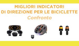 confronto indicatori di direzione per le biciclette